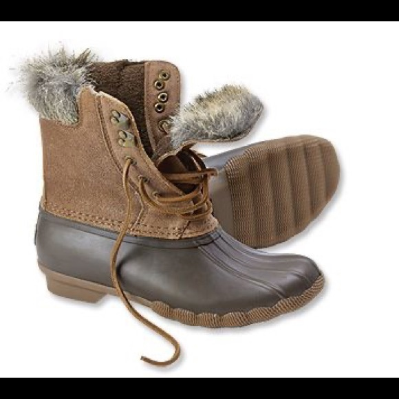 Sperry Shoes | Fur Trimmed Duck Boots